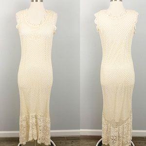 Newport News vintage crochet maxi dress